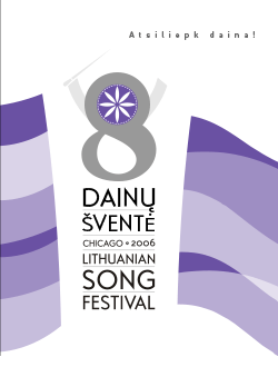 Cover of the Eighth Song Festival Program Booklet